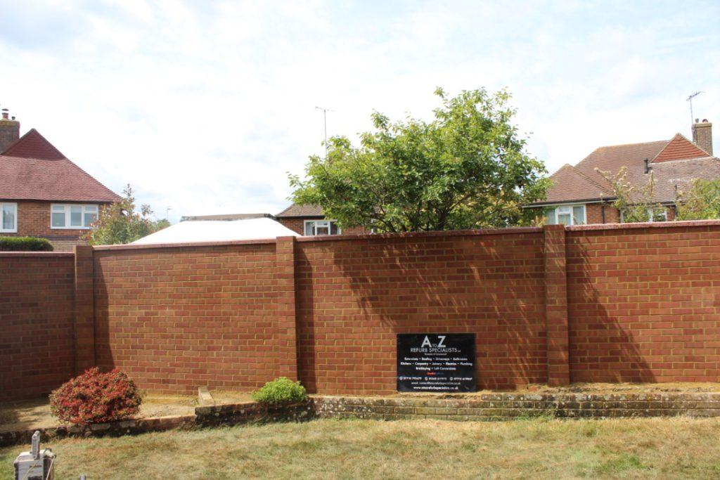 Stunning new garden brickwork wall