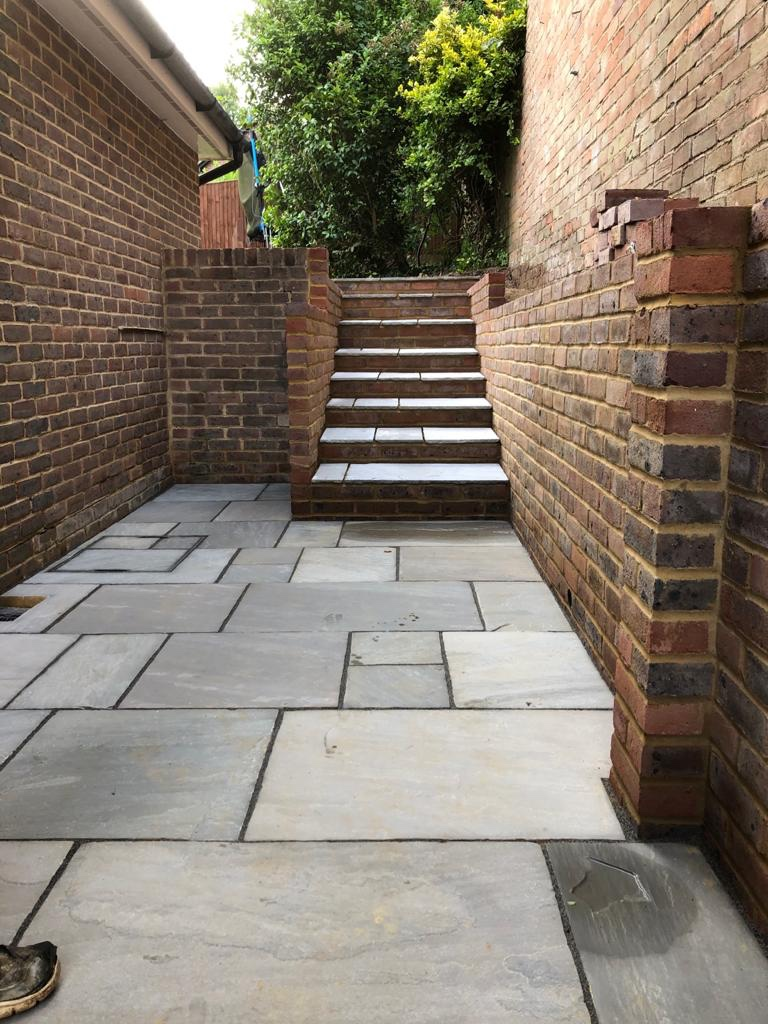 A beautiful brickwork side alley