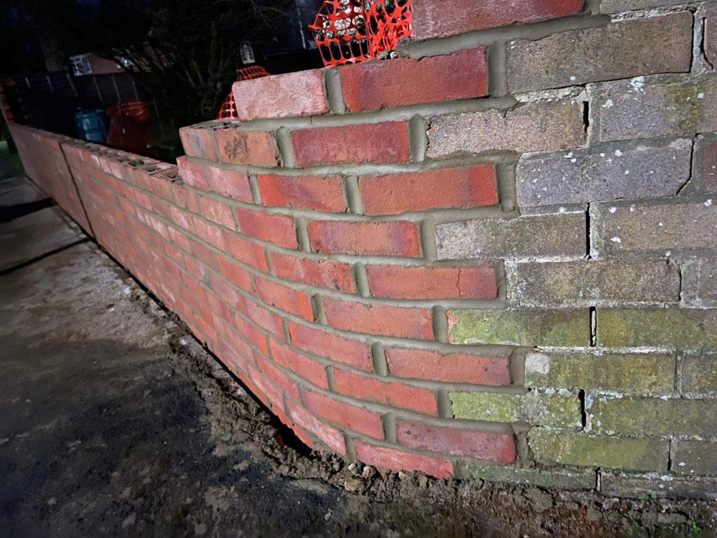 Delightful brickwork with columns - curve detail