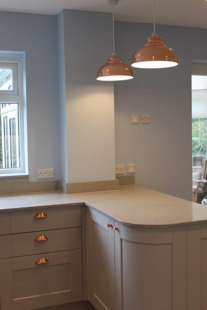 Slick lighting design in a kitchen