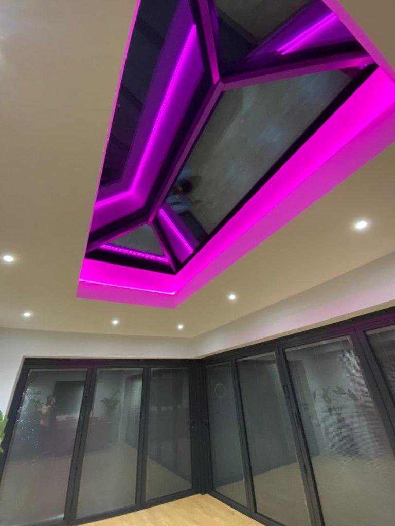 Modern mood lighting - pink lights