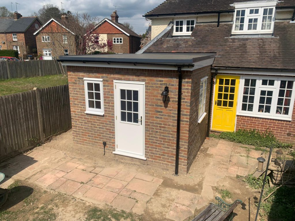 Inexpensive single story extension in Lingfield