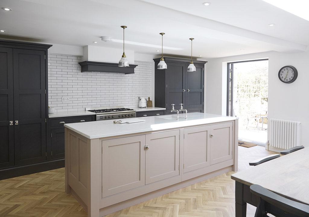 Kitchen rear extension and bespoke kitchen