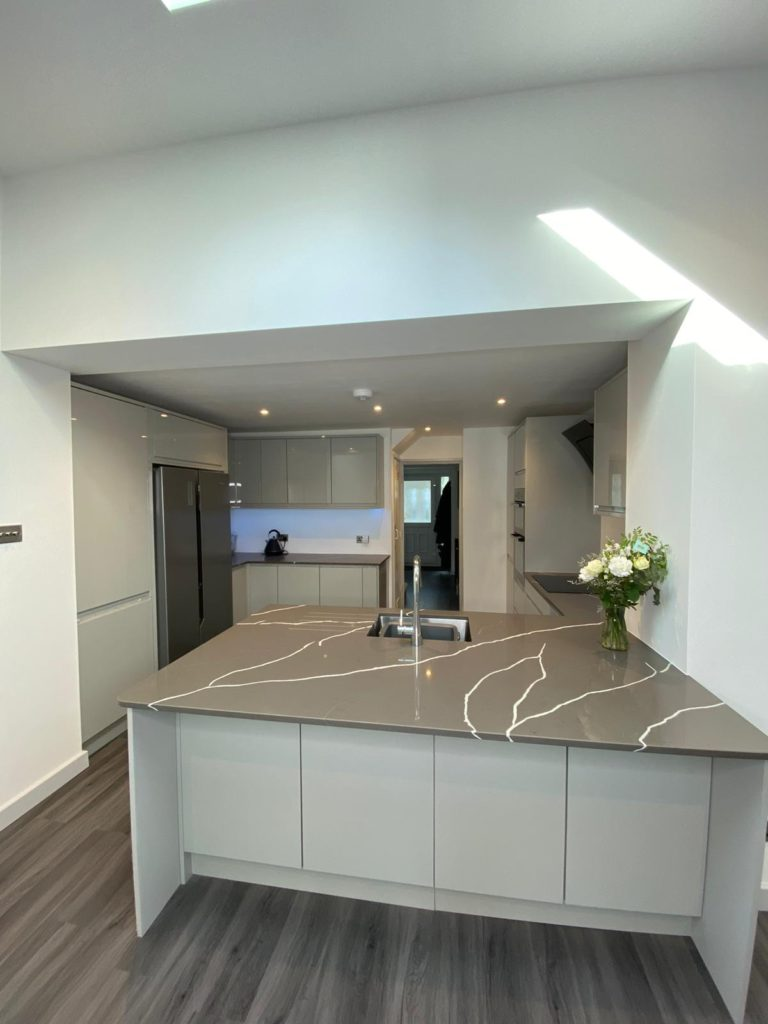 Kitchen in a single storey extension and ground floor makeover