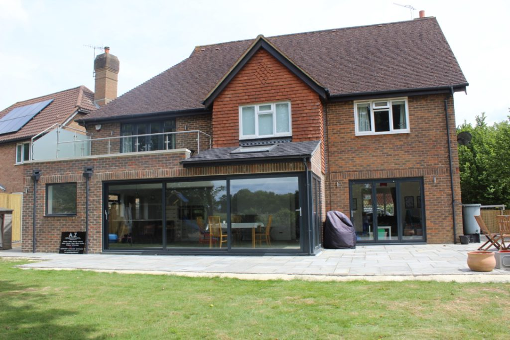 A spacious beautiful rear extension