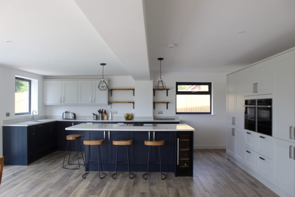 Superior modern kitchen extension with island