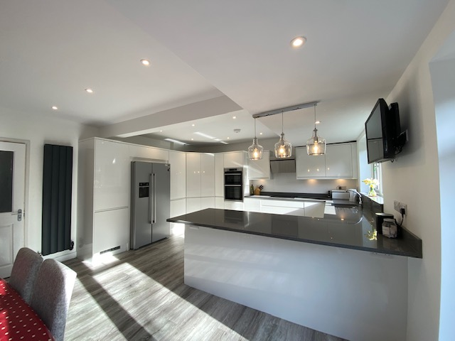 Howden's kitchen installation - a light filled room