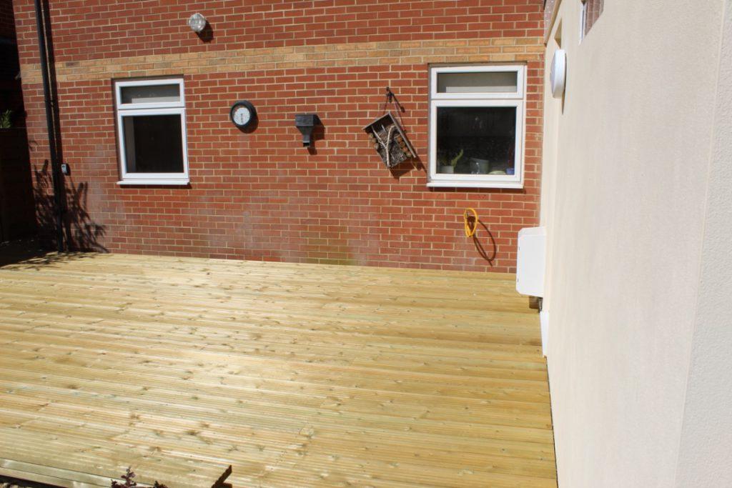 Beautiful outdoor decking area in East Grinstead