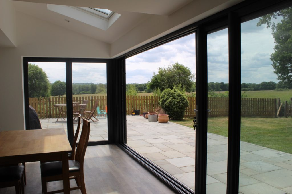 landscaping in Lingfield - view from extension