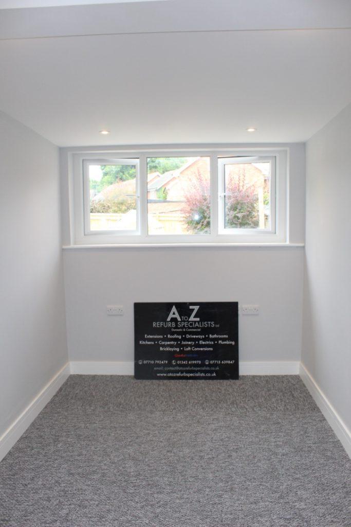 Roomy garage conversion in East Grinstead