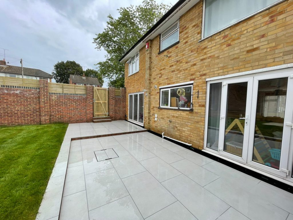 Contemporary rear landscaping