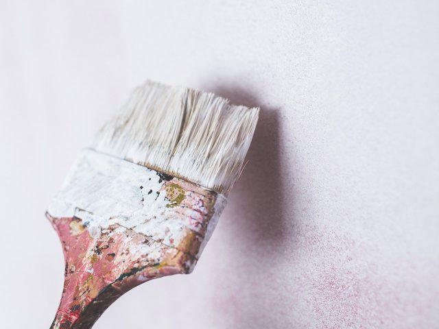 brush, painting, wall